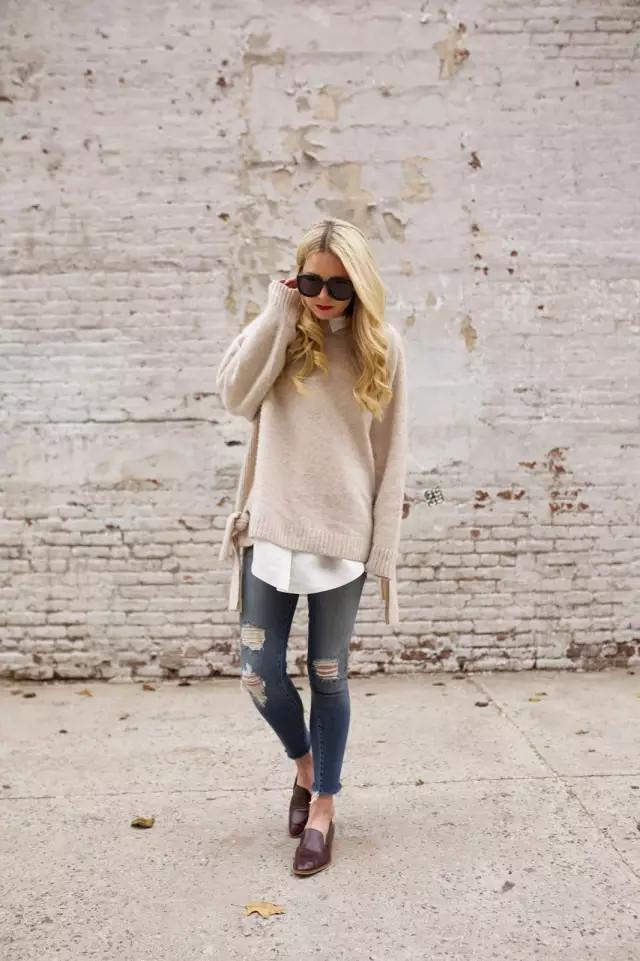 10种秋冬爆款毛衣搭配法,时髦美翻一整个秋冬!